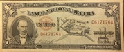 1 Peso (José Martí Centennial Birth) – obverse
