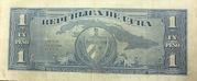 1 Peso (José Martí Centennial Birth) – reverse