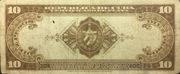 10 Pesos (Silver Certificate Issue) -  reverse