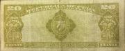20 Pesos (Certificados de Plata) – reverse