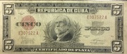 5 Pesos (Silver Certificate Issue) – obverse