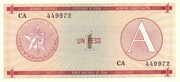 "1 Peso ""A"" (Foreign Exchange Certificate) – obverse"
