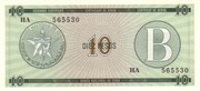 "10 Pesos ""B"" (Foreign Exchange Certificate) – obverse"