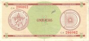 "5 Pesos ""D"" (Foreign Exchange Certificate-Round ""D"") – obverse"
