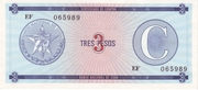 "3 Pesos ""C"" (Foreign Exchange Certificate-Narrow ""C"") -  obverse"
