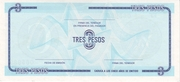 "3 Pesos ""C"" (Foreign Exchange Certificate-Narrow ""C"") -  reverse"