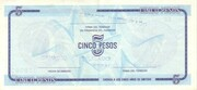 "5 Pesos ""C"" (Foreign Exchange Certificate-Narrow ""C"") – reverse"
