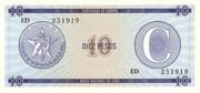 "10 Pesos ""C"" (Foreign Exchange Certificate-Narrow ""C"") – obverse"