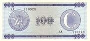 "100 Pesos ""C"" (Foreign Exchange Certificate-Narrow ""C"") -  obverse"