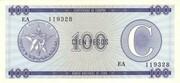 "100 Pesos ""C"" (Foreign Exchange Certificate-Narrow ""C"") – obverse"
