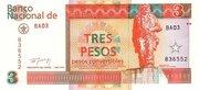 3 Pesos Convertibles – obverse