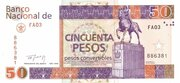 50 Pesos Convertibles – obverse