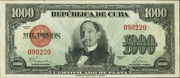 1000 Pesos (Silver Certificate Issue) – obverse