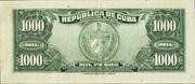 1000 Pesos (Silver Certificate Issue) – reverse