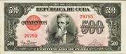 500 Pesos (Silver Certificate Issue) – obverse