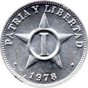 1 Centavo (Patria y Libertad) – reverse