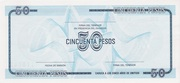 "50 Pesos ""C"" (Foreign Exchange Certificate-Narrow ""C"") -  reverse"