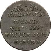 Medal - Isabella II – reverse