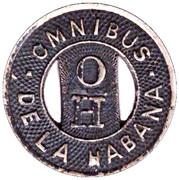 ½ Pasaje - Omnibus de la Habana – obverse