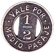 ½ Pasaje - Omnibus de la Habana – reverse