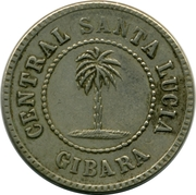 1 Ration Token - Central Santa Lucia (Gibara) – obverse