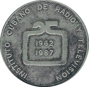 Medal - 25th Anniversary of ICRT – reverse