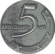Medal - 5th ICRT Piano contest – obverse