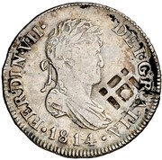 2 Reales (Countermark on Spanish 2 Reales KM#464) – obverse