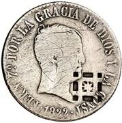 4 Reales (Countermark on Spanish - Madrid 4 Reales, KM#562.2) – obverse
