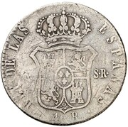 4 Reales (Countermark on Spanish - Madrid 4 Reales, KM#562.2) – reverse