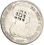 4 Reales (Countermark on Spanish - Valencia 4 Reales, KM#567) – obverse