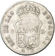 4 Reales (Countermark on Spanish - Valencia 4 Reales, KM#567) – reverse