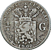 ¼ Gulden - Wilhelmina – reverse