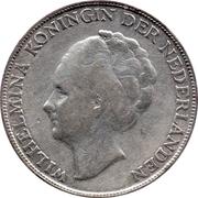1 Gulden - Wilhelmina – obverse