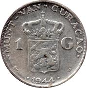 1 Gulden - Wilhelmina – reverse