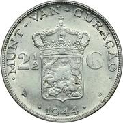 2½ Gulden - Wilhelmina – reverse