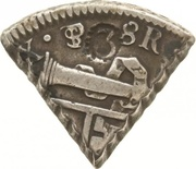 3 Reaal, 18 Stuiver (British Occupation - Countermarked 3 dentilated) – obverse