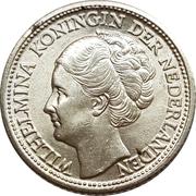 ¼ Gulden - Wilhelmina – obverse