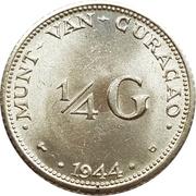 ¼ Gulden - Wilhelmina -  reverse