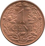 1 Cent - Wilhelmina – reverse