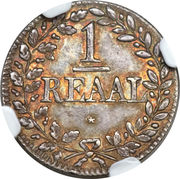 1 Reaal, 6 stuiver - Willem I – reverse