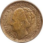 1/10 Gulden - Wilhelmina -  obverse