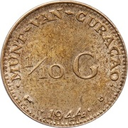 1/10 Gulden - Wilhelmina -  reverse