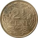 2½ Cents - Wilhelmina – reverse