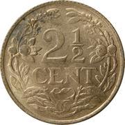 2½ Cents - Wilhelmina -  reverse