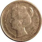 ⅒ Gulden - Wilhelmina – obverse