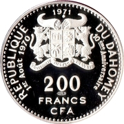 200 Francs (Independence) – obverse