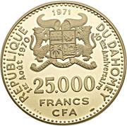 25 000 Francs (Independence) – obverse
