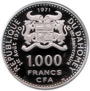1000 Francs (Independence) – obverse