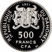 500 Francs (Independence) – obverse